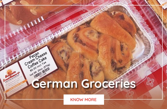 German Groceries at Bernhard German Bakery and Deli
